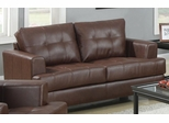 Samuel Love Seat with Attached Seat Cushions - 504072