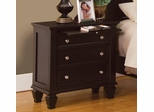 Sandy Beach Nightstand with 3 Drawers - 201992