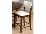 Satin Walnut Upholstered Side Bar Chairs - Set of 2 - 433-BS406KD