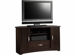 "Sauder Beginnings 37"" Corner TV Stand Cinnamon Cherry"