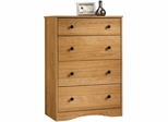 Sauder Beginnings 4 Drawer Chest Highland Oak