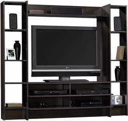 Sauder Beginnings Entertainment Wall System Cinnamon Cherry