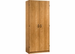 Sauder Beginnings Storage Cabinet 4 Adjustable Shelves Highland Oak