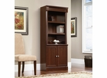 Sauder Palladia Library Bookcase with Doors Select Cherry