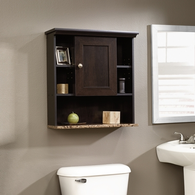 Sauder Peppercorn Wall Cabinet Cinnamon Cherry