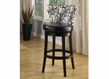 "Savvy 4015 26"" Swivel Barstool in White Floral Fabric / Ebony - Armen Living - LCSASWBAFL26"