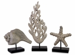 Seaside Series Statuary (Set of 3) - IMAX - 13427-3