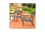 Sedona 2 Piece Aluminum Outdoor Conversation Set - 2 Black Club Chairs - CROSLEY-KO60006BK