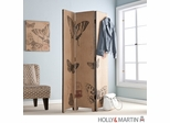 SEI Vintage Butterfly Room Divider