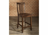 (Set of 2) School House Bar Stool in Vintage Mahogany Finish with 24 Inch Seat Height - Crosley Furniture - CF500324-MA