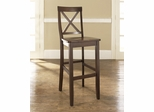 (Set of 2) X-Back Bar Stool in Mahogany Finish with 30 Inch Seat Height - Crosley Furniture - CF500430-MA