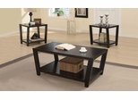 Set of 3 Occasional Tables Set in Dark Cappuccino - 701510