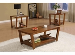 Set of 3 Occasional Tables Set in Warm Brown - 701513