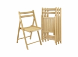 Set of 4 Folding Chairs - Winsome Trading - 89430