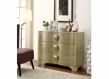 Shimmery Gold Cabinet with 3 Drawers - 950201