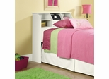 Shoal Creek Twin Bookcase Headboard Soft White - Sauder Furniture - 411905
