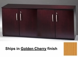 Short Cabinet with Wood Doors in Golden Cherry - Mayline Office Furniture - VLCWGCH