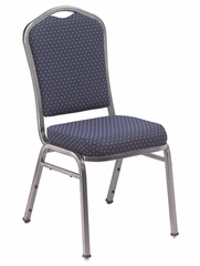 Silhouette Fabric Padded Stack Chair with Pattern - National Public Seating - 9360