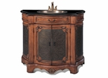 Sink Chest in Medium Brown / Brass Metal - P5316-03A1R