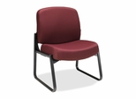 Sled-Base Guest Chair - Wine - HON3506NT69T