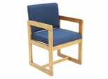 Sled Base with Arms Chair - ROF-B61715-MOBE