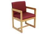 Sled Base with Arms Chair - ROF-B61715-MOBY