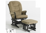 Sleigh Multiposition Glider and Ottoman Combo - Dutailier - C01-81A