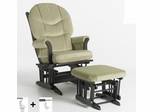 Sleigh Multiposition Glider and Ottoman Combo - Dutailier - C01-81C