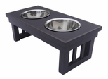Small Size Habitat 'n Home Mission Pet Diner in Espresso - NewAgeGarden - EHHF102S