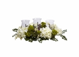 Snowball Hydrangea Triple Candelabrum - Nearly Natural - 4806