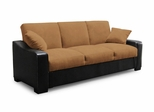 Sofa Bed Convertible in Hazelnut / Bi-Cast Java Base - Tiana - SA-TNA-HN-SET