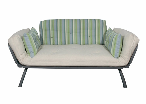 Sofa / Lounger with Coastal Drifter Stripe Cover - Mali Collection - 55-6118-CDS