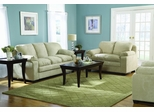 Sofa Set in Buff Microfiber - 9840BF-SET