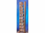 Solid Oak 10 Row Dowel 260 CD Rack - 1004