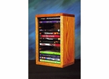 Solid Oak 16 Capacity Desktop or Shelf DVD Cabinet  - 110-1DVD
