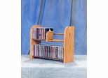 Solid Oak 2 Row Dowel Tabletop CD Rack - 201
