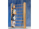 Solid Oak 4 Row Dowel DVD/VHS Rack - 405