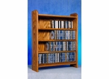 Solid Oak 4 Shelf Tabletop CD Cabinet - 402