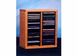 Solid Oak 40 CD Desktop Storage Cabinet - 209-1