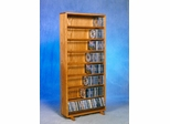 Solid Oak 440 Capacity CD Storage Cabinet - 806-24