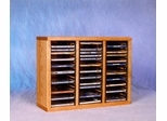 Solid Oak 60 CD Tabletop Storage Cabinet - 309-1