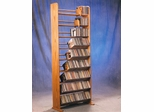 Solid Oak 9 Row Dowel Tabletop CD Rack - 901