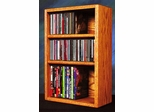 Solid Oak CD/DVD/VHS Combination Rack - 312-1W