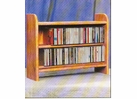 Solid Oak CD Storage Rack - 202