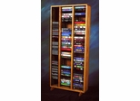 Solid Oak CD / VHS Media Tower - 313-4CD/VHS