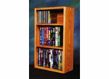 Solid Oak Combination Cabinet - CD / DVD/ VHS - 313-1W