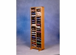 Solid Oak VHS Storage Tower  - 208-4VHS