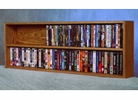 Solid Oak Wall or Shelf Mount DVD/VHS Tape/Book Cabinet - 210-4W
