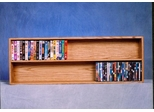 Solid Oak Wall or Shelf Mount Multimedia Storage Cabinet - 208-4W