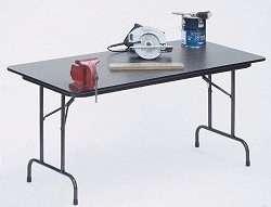 """Solid Plywood Folding Table 18"""" x 60"""" - Correll Office Furniture - PC1860P"""